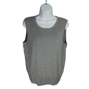 Cable & Gauge Gray Sleeveless Knit Vest, XL